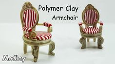 How to make a armchair miniature - Furniture tutorial