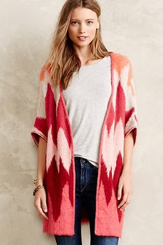 Dizzy Chevron Cardigan #anthropologie