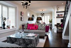 There is something effortlessly classic about black and white with your favourite accent. These shutters fit in to the overall tailored look of the space.