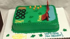 Sparan Race Obstacle Course Cake