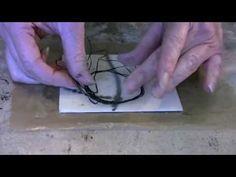 Nancy Crawford - Encaustic Technique 10 - Dental Floss