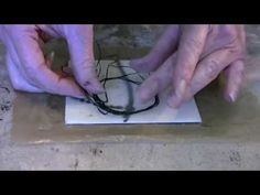 Encaustic Technique 10 Dental Floss - YouTube