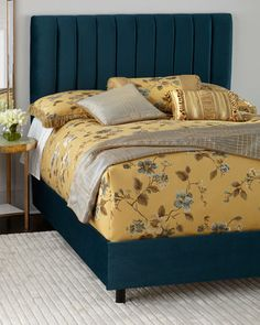 Mystic California King Channel-Tufted Bed