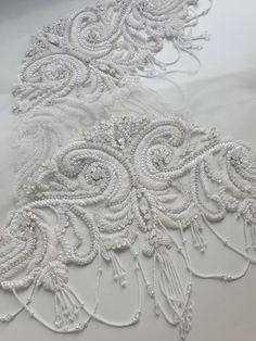 Beautiful beaded cap sleeves have just arrived! #beadedcapsleeves #beadedweddingdress