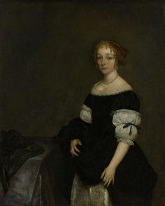 Aletta Pancras (1649-1707). Echtgenote van François de Vicq., Gerard ter Borch (II), 1670