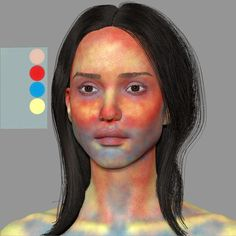 color zones of the face Digital Painting Tutorials, Digital Art Tutorial, Art Tutorials, Portrait Art, Portraits, Photoshop Face, Skin Paint, Skin Color Paint, Wow Art