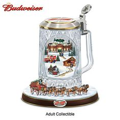 Ring in the season with the King of Beers® with this limited-edition Budweiser collectible stein