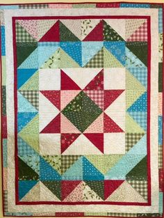Winter Wishes Quilt by Deborah Jacobs-co-owner of Gathering Friends Quilt Shop, and I am thrilled to share my first recipe with you. This easy quilt uses one layer cake and yard of a dark and yards of a neutral print. This lap quilt finishes at Star Quilts, Scrappy Quilts, Easy Quilts, Quilt Blocks, Star Blocks, Layer Cake Quilt Patterns, Layer Cake Quilts, Easy Quilt Patterns, Layer Cakes