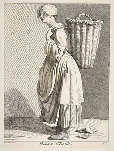 """Oyster Seller"", by Anne Claude Philippe de Tubières, Comte de Caylus 18th Century Clothing, 18th Century Fashion, Historical Costume, Historical Clothing, Champs Sur Marne, Le Cri, Vintage Magazine, 18th Century Costume, Ink Drawings"