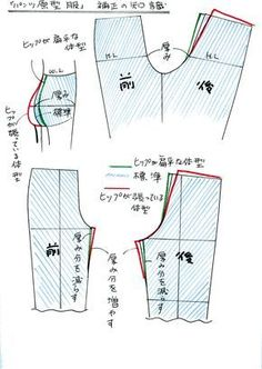 Finally! A diagram that matches 'butt' size with back seam slope.