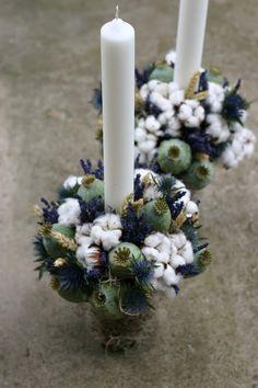 Flowers of Soul: Lumanari de cununie Flower Diy, Diy Flowers, Candle Sconces, Dyi, Wall Lights, Easter, Wedding Ideas, Candles, Baby