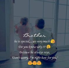 A big brother is that person to his little sister, who her father or boyfriend can never be. ❤️❤️ Tag-mention-share with your Brother and… Younger Brother Quotes, Brother Sister Relationship Quotes, Brother Sister Love Quotes, Brother Birthday Quotes, Brother And Sister Love, Daughter Poems, Your Brother, Father Daughter, Bro Quotes