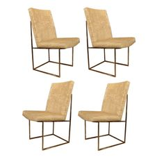 Set of 2-18 Milo Baughman Dining Chairs with Chrome Frame in COM - LUVS!! maybe even for formal dining room?