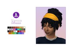 never heard of her — Witching Hour recolor of Venice Hair by 💖. Sims 4 Cc Packs, Sims 4 Mm Cc, Sims Four, Play Sims 4, Pelo Sims, Sims 4 Characters, Victorian Hairstyles, Sims 4 Cas, Sims 4 Cc Finds