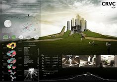 Archmedium CRVC competition by Nguyen Manh Hung, via Behance: Architecture Concept Diagram, Architecture Presentation Board, Architecture Panel, Architecture Drawings, Landscape Architecture, Architecture Design, Architecture Diagrams, Project Presentation, Presentation Layout