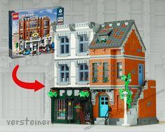 Legos, City Layout, Lego Display, Lego Activities, Lego Modular, Lego Construction, Cool Lego Creations, Lego Design, Lego Creator