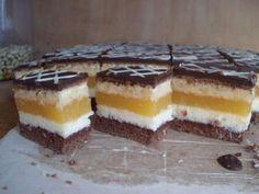 Domino rezy pomarančové High Sugar, Cake Bars, Tiramisu, Cheesecake, Food And Drink, Pudding, Treats, Cookies, Baking
