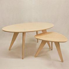 wood table. color table. coffe table. www.thenudedesign.com Mesa de centro Mister T. Mesas nido