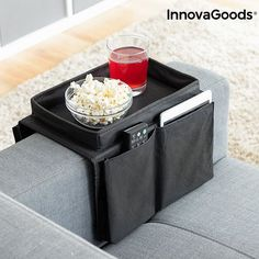 Sofabrett med lommer for fjernkontroll etc, Innovagoods Settee, Home Organization, Container, Kitchen Accessories, Remote, Tray, House, Sofa, Glass