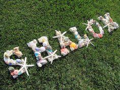 Beach Decor SHALOM Shell Letters  Judaica  Seashell by LiveCoastal, $180.00