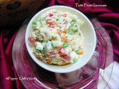 Eggless Tutti Frutti Icecream | Pepper, Chilli and Vanilla