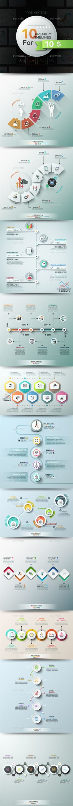 10 Infographic Timelines. Part 2 - Infographics
