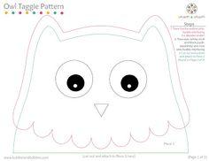 owl taggie pattern