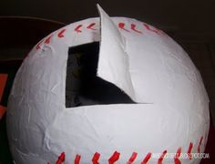 Baseball Birthday Party: Pull-String Pinata ~ MAD IN CRAFTS