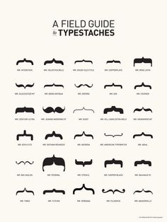 Figure out the personalities of fonts with this awesome 'Field Guid to Typestaches' from a girl named Tor!