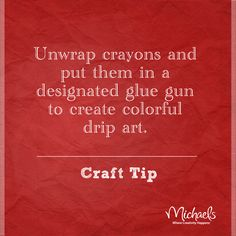 Crayon melt art tip