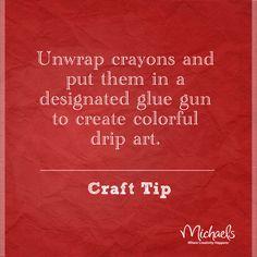 Crayon melt art tip