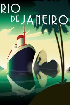 Rio de Janeiro Art Deco poster
