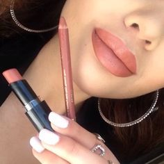 """Velvet Teddy"" dupe --> Milani ""Spice"" lipliner ($4) with WetNWild ""Bare it All"" lipstick ($2)"
