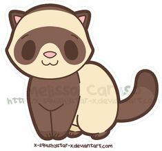 Chibi Squishy Ferret :Gift: by x-SquishyStar-x Cute Little Drawings, Cute Kawaii Drawings, Cute Animal Drawings, Cute Animal Pictures, Cartoon Drawings, Easy Drawings, Pet Ferret, Chibi, Animales