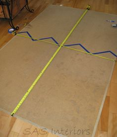 Directions to marking out chevron pattern