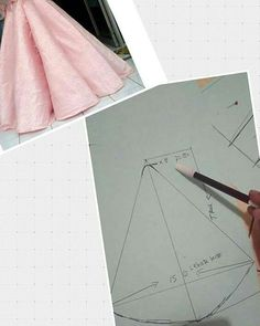 Simple gown with super flare skirt. (It depends with fabric) Order by line : (with # - modellistepatternin the zac posen atelier process.Front shot long back shirtthis pin was discovered byDiscover thousands of images about Circle skirt Circle Skirt Pattern, Gown Pattern, Techniques Couture, Sewing Techniques, Draping Techniques, Pattern Cutting, Pattern Making, Dress Sewing Patterns, Clothing Patterns
