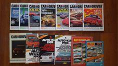 Veel van 7 auto en bestuurder tijdschriften en 6 jaarboeken  Auto en Driver magazine.Oktober 1994; Rolls Royce Touring Limo de laatste van de automobielindustrie Britis (AC Bristol Caterham Marcos Morgan Reliant Westfield.) Mazda Miata Subaru Impreza Mercedes G Saab 900SE.December 1994; Porsche Carrera 4 Jaguar XJS 4.0 cabrio BMW M3.Juli 1995; Subaru Outback hatchback Chevrolet Camaro Suprcar speciale Ferrari 355 Lotus Esprit S4S Porsche 911 Turbo Acura NSX-T Dodge Viper.Mei 1997; Volvo C70…