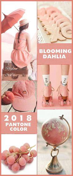 '' Blooming Dahlia - 2018 Pantone Color '' by Reyhan S. Colour Pallete, Colour Schemes, Color Combos, Color Palettes, Color Patterns, Color Trends 2018, 2018 Color, Palette Wall, Color Collage