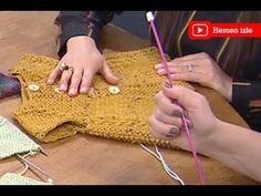 Ot veya Çimen Örgü Modeli ile Bebek Yeleği Nasıl Yapılır? (Baştan Sona Anlatım) - örgü modelleri - YouTube