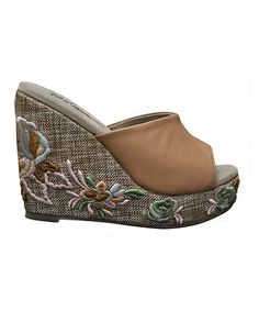 Take a look at this Tan RSVP Wedge by Very Volatile on #zulily today!