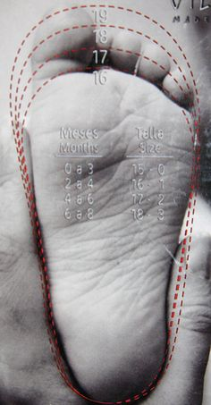 Baby Shoe Size Chart by erikrasmussen, via Flickr