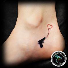 17 Best ideas about Small Gun Tattoo on Pinterest   Pistol tattoos ...