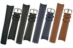 Hirsch Leonardo range of Curve ended watch straps. With 8 adjustable pin locations to suit your watch so it fits tight like a bracelet.