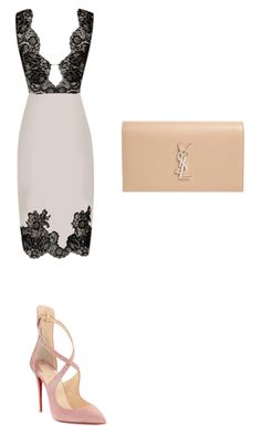 """""""Untitled #10"""" by antoniaddesigns ❤ liked on Polyvore featuring Agent Provocateur, Christian Louboutin and Yves Saint Laurent"""