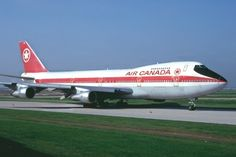 Air Canada 747 heading for Rwy 23 at Toronto in 1981 - Photo taken at Toronto - Lester B. Pearson International (Malton) (YYZ / CYYZ) in Ontario, Canada in July, Boeing Aircraft, Passenger Aircraft, Tupolev Tu 144, Canadian Airlines, Air Transat, Transportation Technology, Air Festival, Commercial Aircraft, Civil Aviation