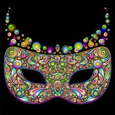 #Carnival #Mask #Psychedelic #Art #Design-#Vector © bluedarkat    http://us.fotolia.com/id/47064681