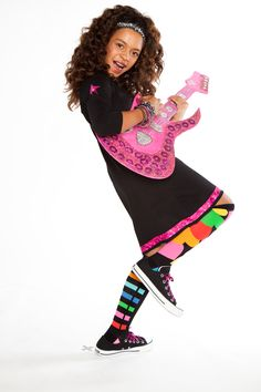 Let her rock out in her own designs -- and sweet LittleMissMatched socks! {Holiday 2011}