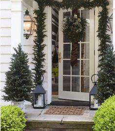 Christmas Entry via Elle Decor