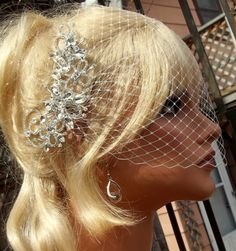 Wedding Crystal Rhinestone Bridal Comb with White by kathyjohnson3