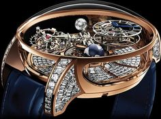 Diamond Watches Ideas : Astronomia Tourbillon Baguette Another Million Dollar Masterpiece From Jacob & Co. - Watches Topia - Watches: Best Lists, Trends & the Latest Styles Baguette, Diamond Watches For Men, Luxury Watches For Men, Cool Watches, Rolex Watches, Rotary Watches, Big Watches, Cheap Watches, Skeleton Watches